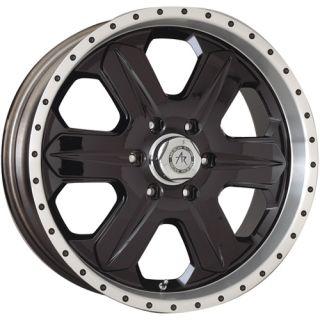 17 inch Black Wheels Rims Jeep CJ Dodge RAM 1500 Ford F150 Truck E150