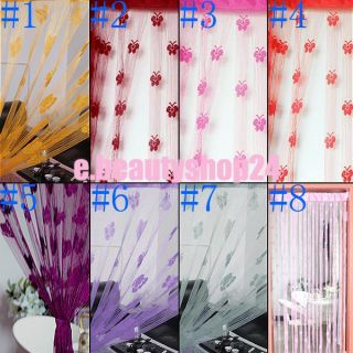 Door Window Romantic Butterfly String Yarn Curtain Room Divider