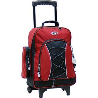 CalPak Bleacher Rolling Backpack Deep Red