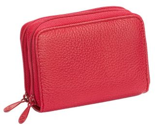Buxton Women Red Wizard Napa Leather Credit Card Wallet