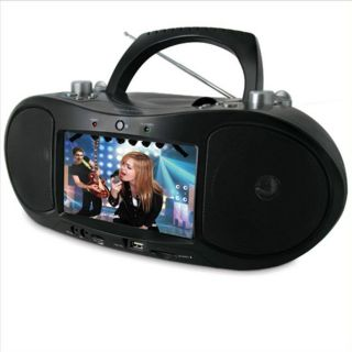 Portable CD DVD Player Boombox 7 Widescreen LCD Radio  WMA MPEG4