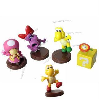 Nintendo Wii Super Mario Bros Luigi Koopa 12 Figure Set