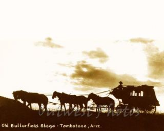 Tombstone AZ Butterfield Stage Coach Stagecoach Photo