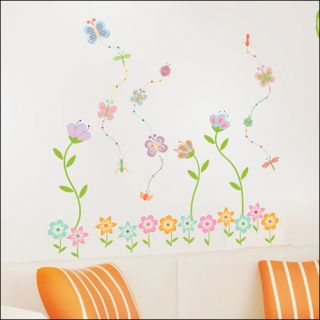 Butterfly Flower Garden Removable Art Decor Wall Sticker Decal