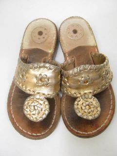 calypso by jack rogers girls gold flip flops sandals