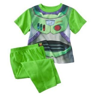 Buzz Lightyear Boys Costume Pajamas Sz 3T Toy Story Short Sleeve