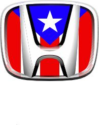 Puerto Rico car vinyl Decal sticker Honda with Puerto Rico Flag
