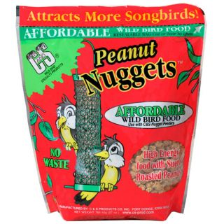 Peanut Nuggets suet attract Wild Bird Seed NO WASTE nut Chunks Cage