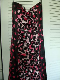 SEXY SIZE 10 CACHE PINK LEOPARD PRINT DRESS