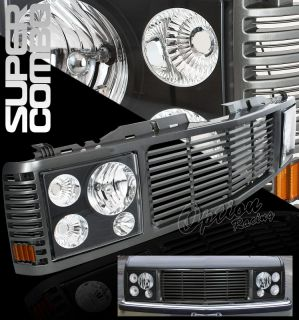88 98 Chevy C10 Headlights Grille Combo Kit Painted C K