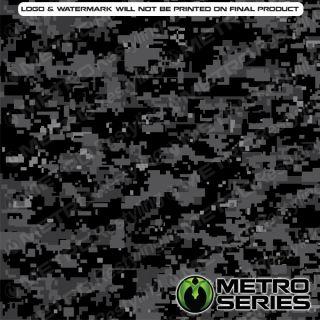 HD Digital Mid Night Camouflage Vinyl Wrap 3M 1080 Controltac Adhesive