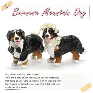 Wedding Cake Toppers Bernese Mountain Dog Lover Figurine Table