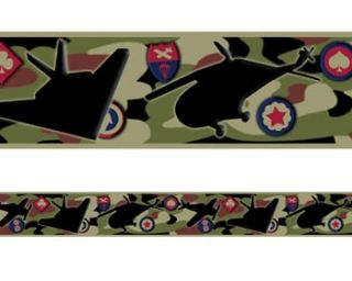 Military Army Camouflage Wallpaper Border Self Stick