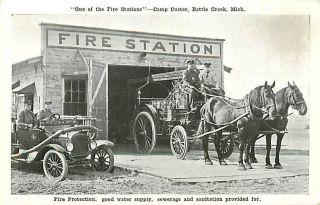 MI Battle Creek Camp Custer Fire Station Kropp T10065