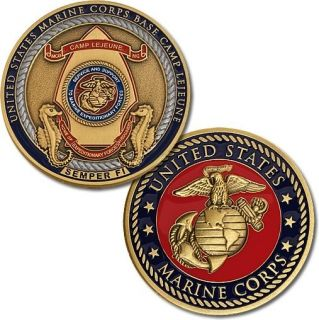 Marine Corps Base Camp Lejeune Home of Expeditionary Forces Coin 61102