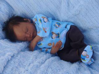 Micro Preemie Life Like Ethnic AA Biracial Baby Boy   Caleb Boneham