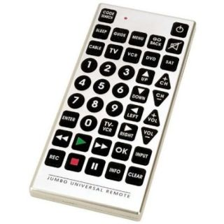 Jumbo TV VCR DVD Cable Remote Giant Universal Television Remote