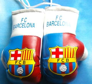 F C Barcelona Mini Boxing Glove Flag