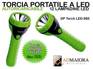 12 LED Bianco Ricaricabile Caccia Pesca Campeggio Super Potente