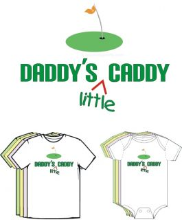 Daddys Little Caddy Golf Funny Baby Clothes T Shirt