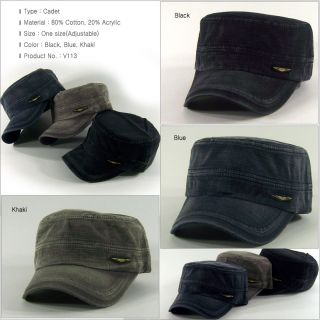 ,Women & Unisex Army Caps/Military Hat/Vintage Adjustable Cadet_V113