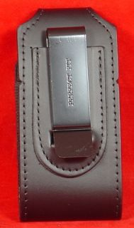 ThunderBolt HTC Black Leather Duty Gear Belt Clip On Phone Pouch Case