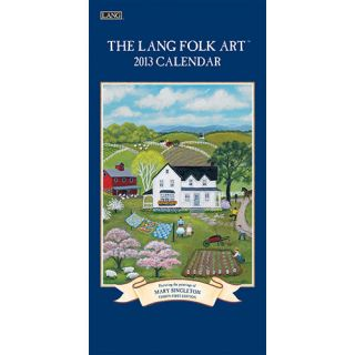 Lang Folk Art 2013 Vertical Wall Calendar 0741242516