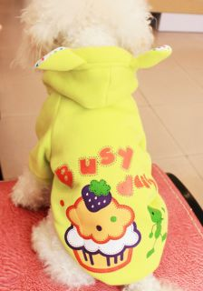 Sweatshirt Pet Dog Hooded Clothes Winter Cotton Coat Cake Printing