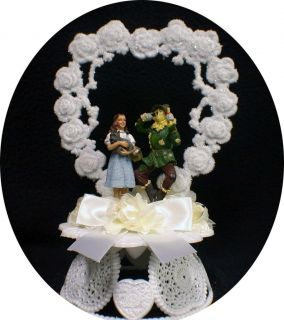 Scarecrow Wedding Cake Topper