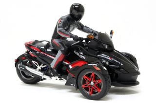NIB CAN AM SPYDER REMOTE CONTROL MOTORCYCLE RED BLACK ACCESSORY NEW