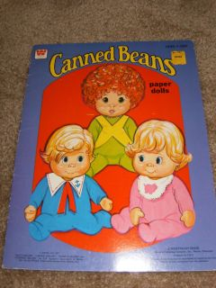 Canned Beans Paper Doll Book Uncut 1977 Whitman Mattel Doll Vintage