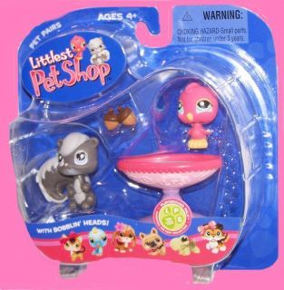 Littlest Pet Shop 132 131 Squirrel Pink Canary Bird