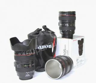 Canon EF 24 105mm Lens Mug 1 1 Stainless Steel Mugs Coffee Cup Mug