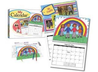 Create Your Own Calendar Kids Craft Art Gift Card Cards