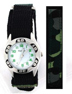 Kids Boys Velcro Strap Army Camouflage Watch Xmas Gift for Boys