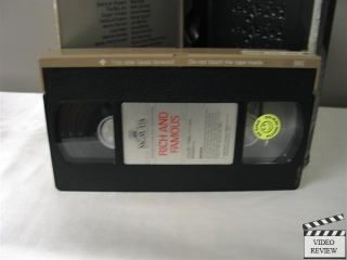 Rich and Famous VHS Jacqueline Bisset Candice Bergen