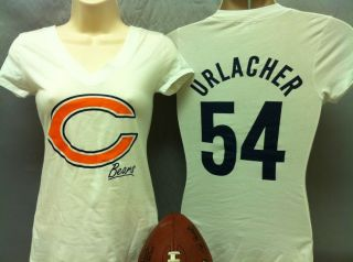 SM L Womens Chicago Bears Shirt Ladies Brian Urlacher Tshirt Tee
