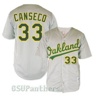 Jose Canseco Oakland Athletics As Grey Road Replica Sewn Jersey Size