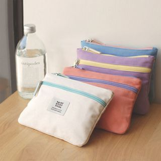 Canvas Cosmetic Makeup Bag Pencil Case Ice Cream Pouch
