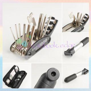 Bike Bicycle Multi Tool Tyre Repair Multi Tool Set Kit Patches Mini