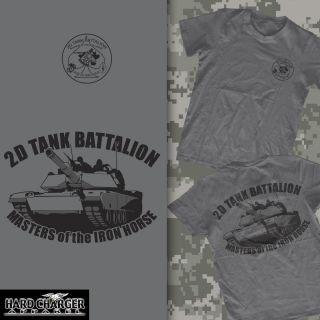 Marine Corps 2D Tank Battalion Camp Lejeune Iron Horse USMC T Shirt