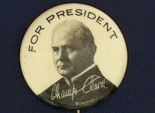 campaign pin pinback button political badge election CHAMP CLARK