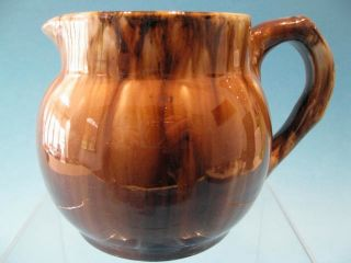 Antique 1930s John Campbell Australian Pottery Brown White Glazed Jug