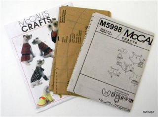 Sewing Pattern McCalls M5998 Dog Pet Puppy Clothes Coat Cloak Cape
