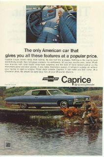 1968 1969 Chevrolet Wagon Caprice 2 Vintage Print Ads Kingswood Estate