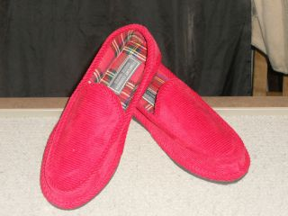 CORDUROY HOUSE SLIPPERS RED