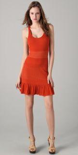 2012NWT$345 Catherine Malandrino Pointelle Knit Tank Dress Ruffle Hem