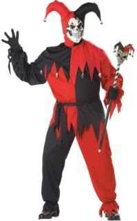 Adult Mens Costume Evil Court Jester Outfit Plus Size