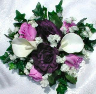 Custom Colors Calla Lilies Centerpieces Silk Wedding Flowers