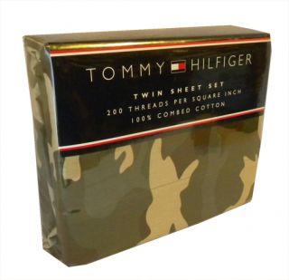 Tommy Hilfiger Garrison Camouflage Camo Sheets TW F Q